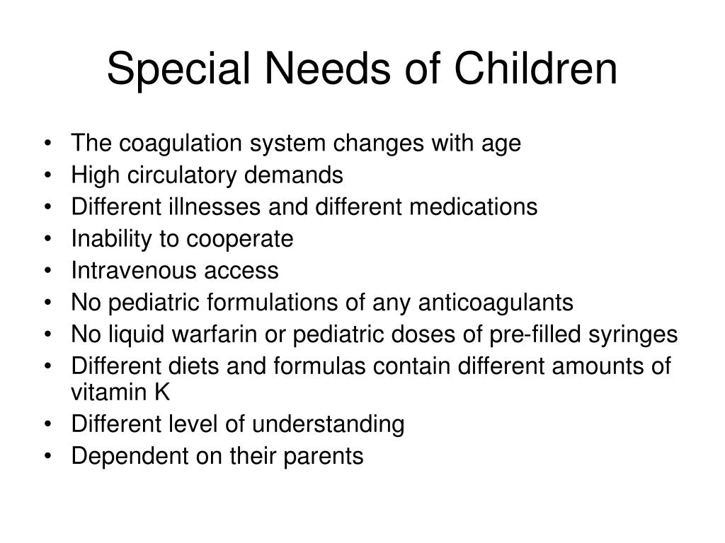 Special Needs of Children