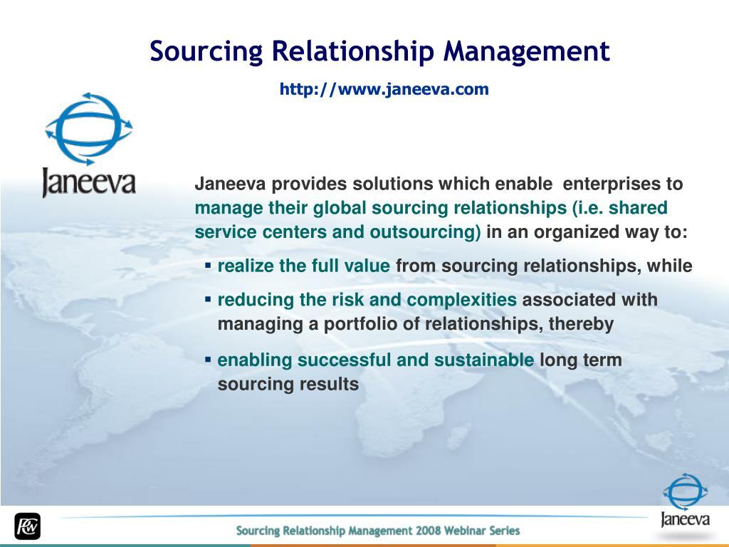 Sourcing Relationship Management