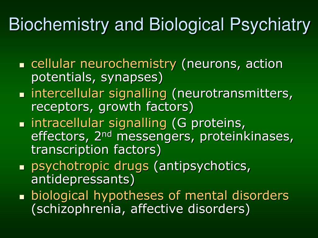Biochemistry and