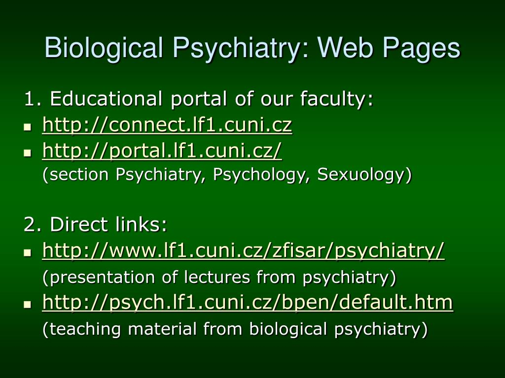 Biological Psychiatry: Web Pages