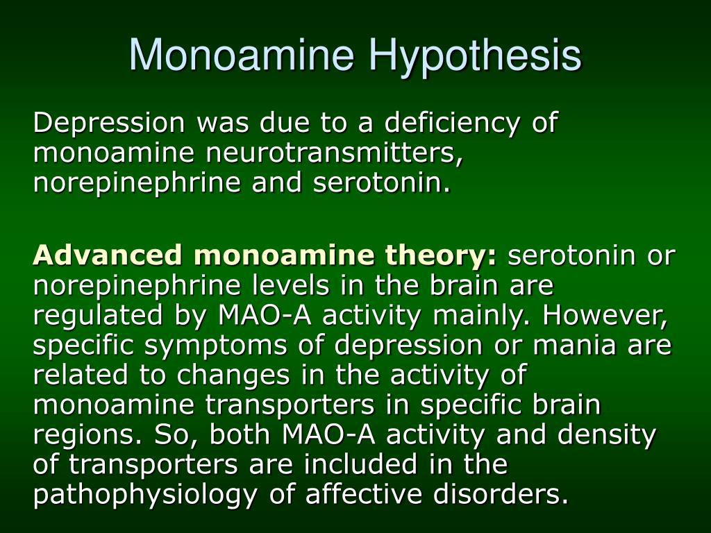 Monoamine Hypothesis