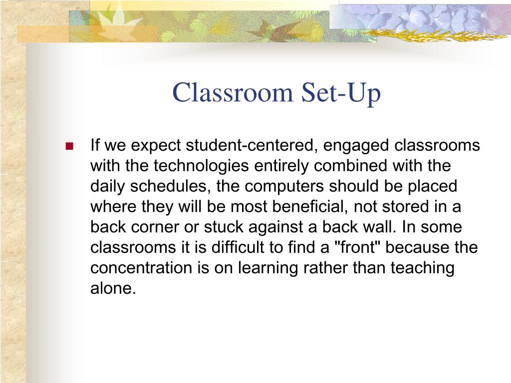 Classroom Set-Up