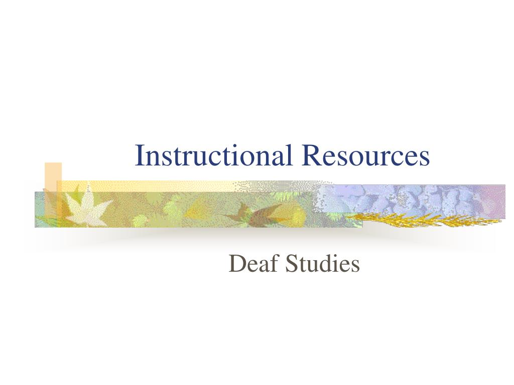 Instructional Resources