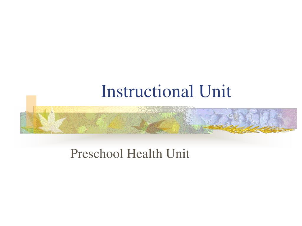 Instructional Unit