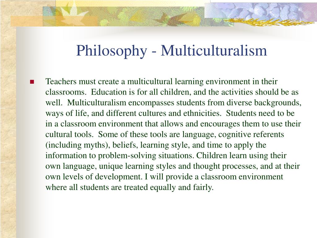 Philosophy - Multiculturalism