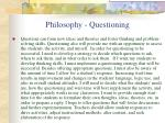 philosophy questioning