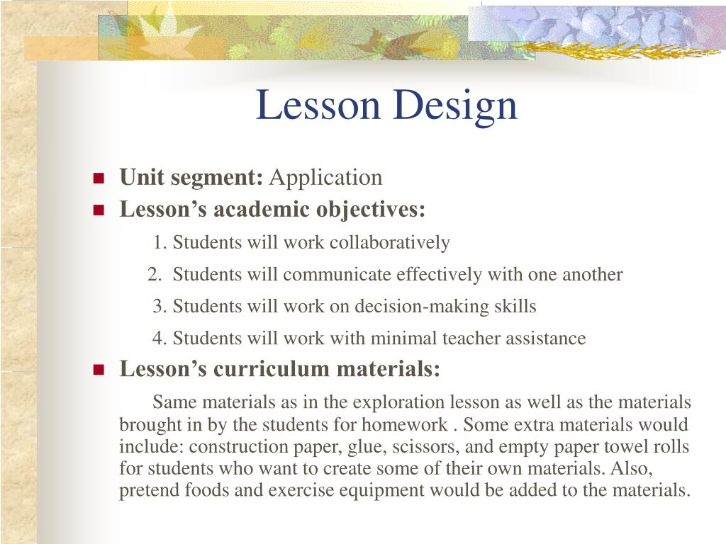 Lesson Design
