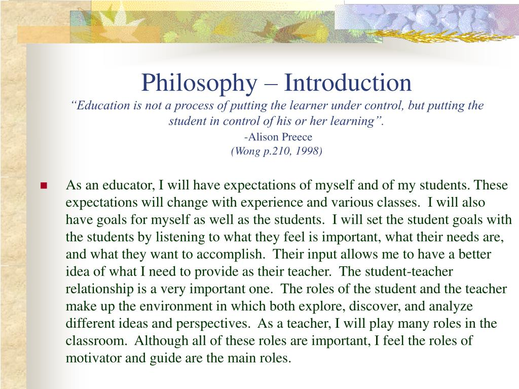 Philosophy – Introduction