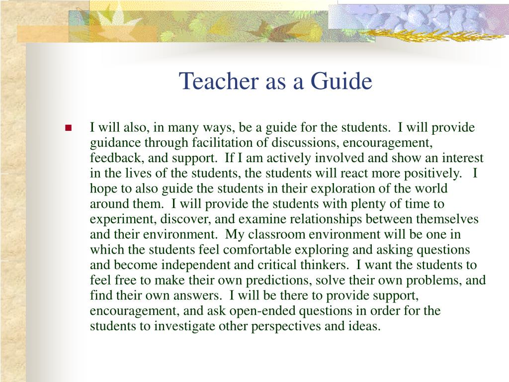 Teacher as a Guide