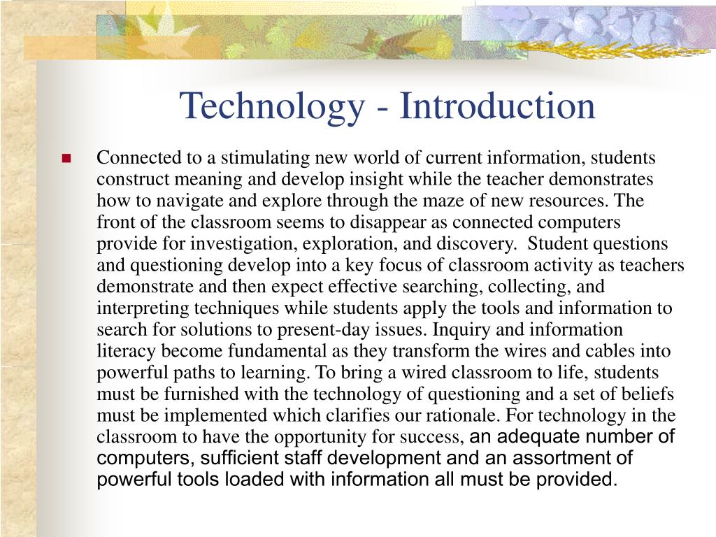 Technology - Introduction