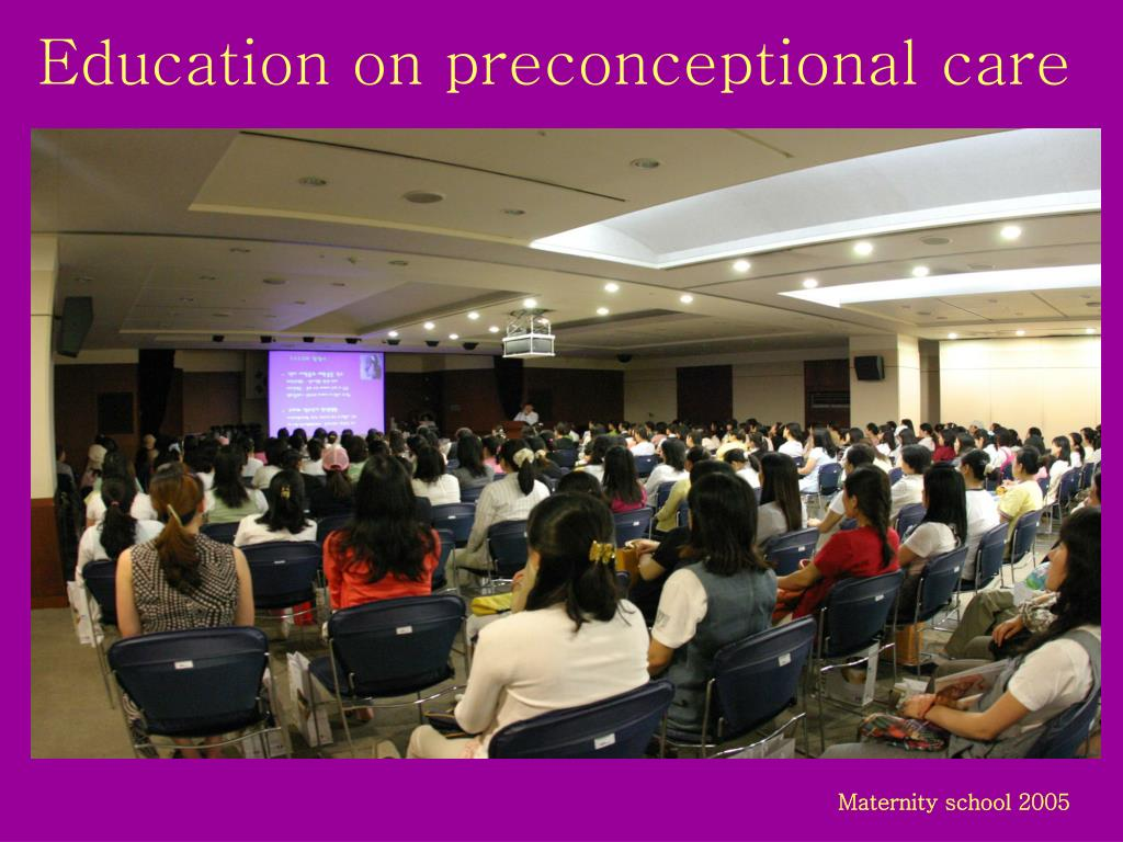 Education on preconceptional care