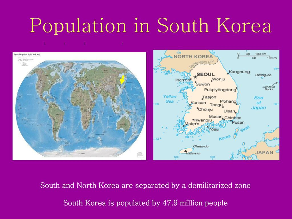 Population in South Korea