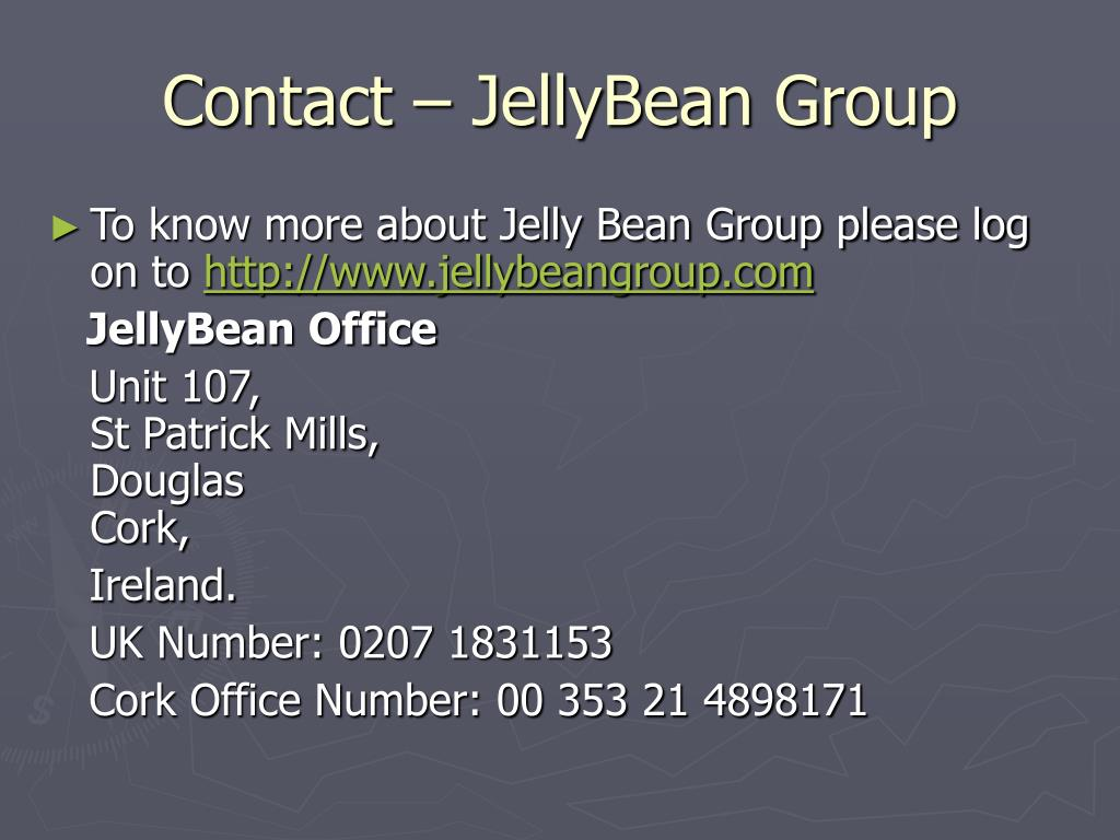 Contact – JellyBean Group