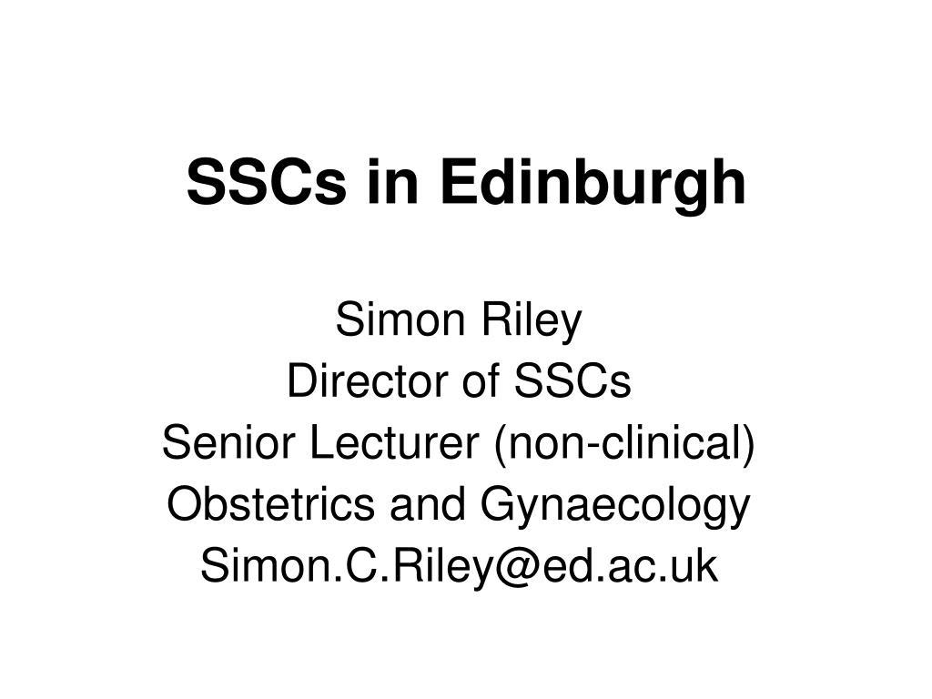 SSCs in Edinburgh