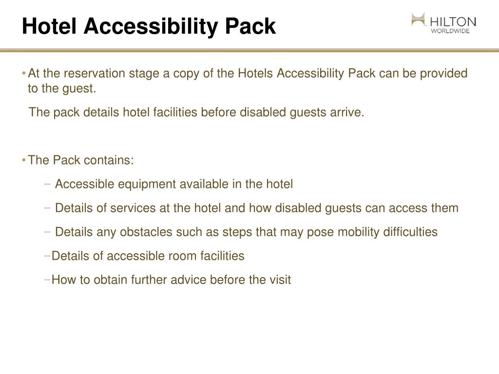 Hotel Accessibility Pack