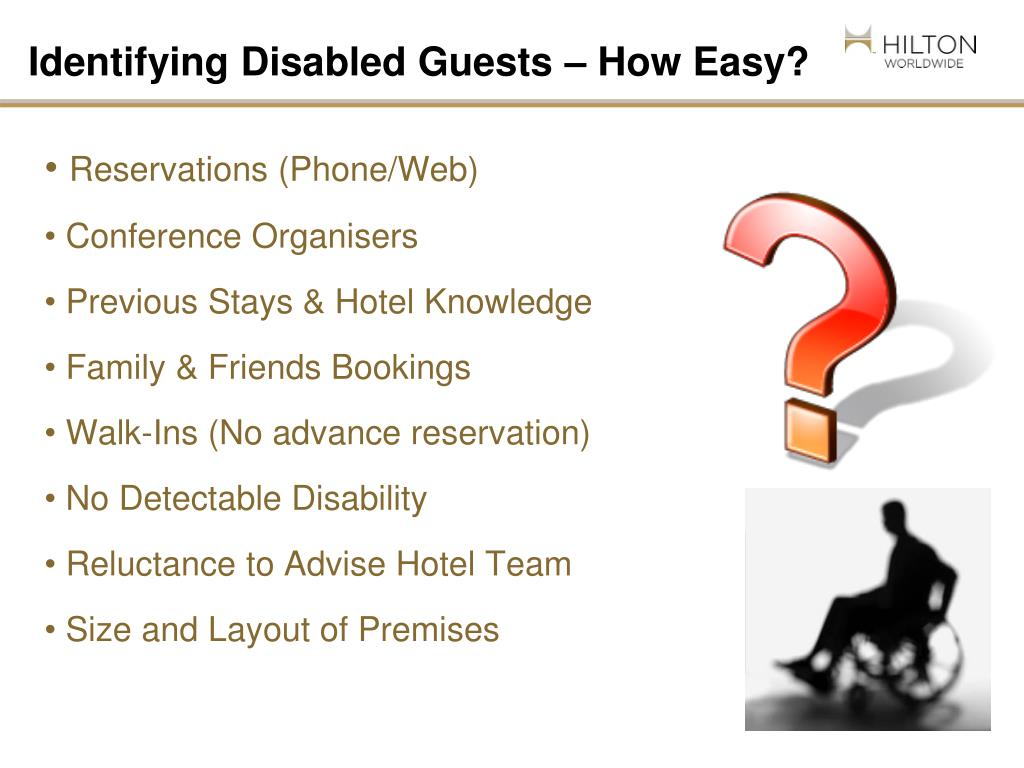 Identifying Disabled Guests – How Easy?