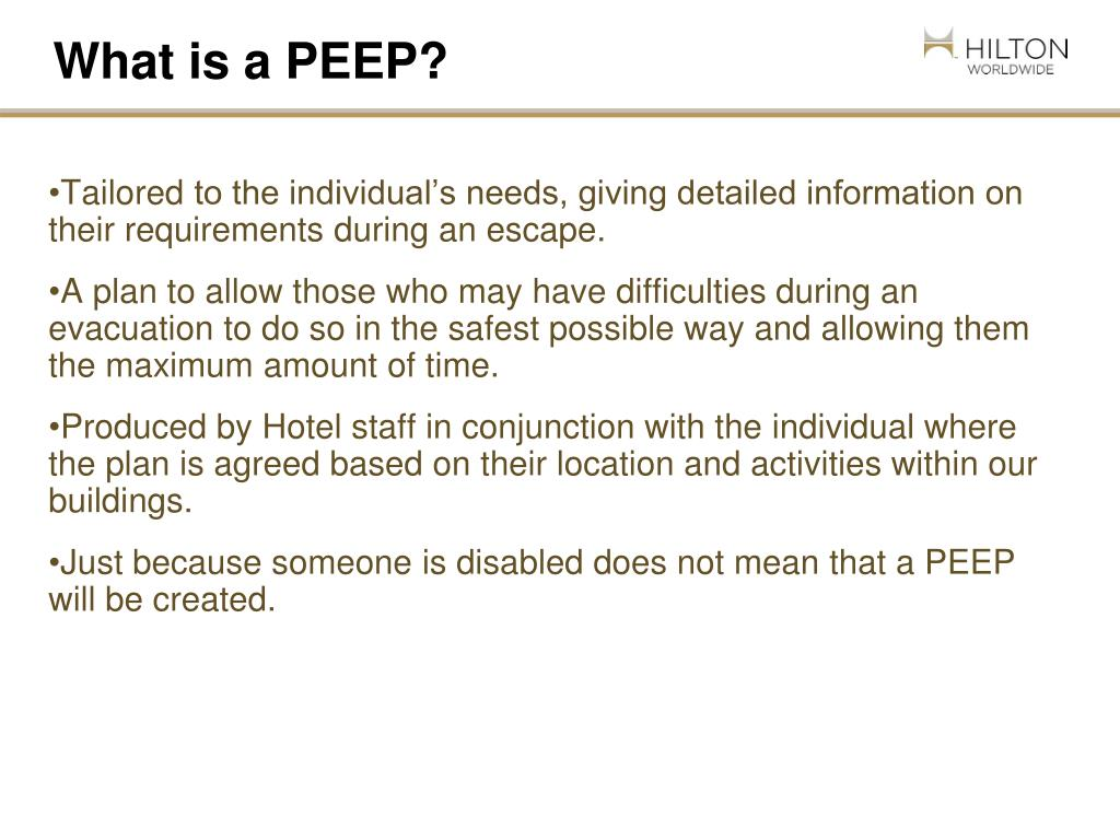 What is a PEEP?