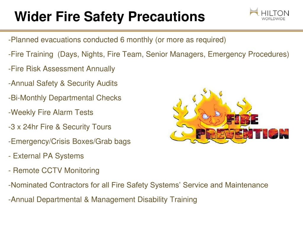 Wider Fire Safety Precautions