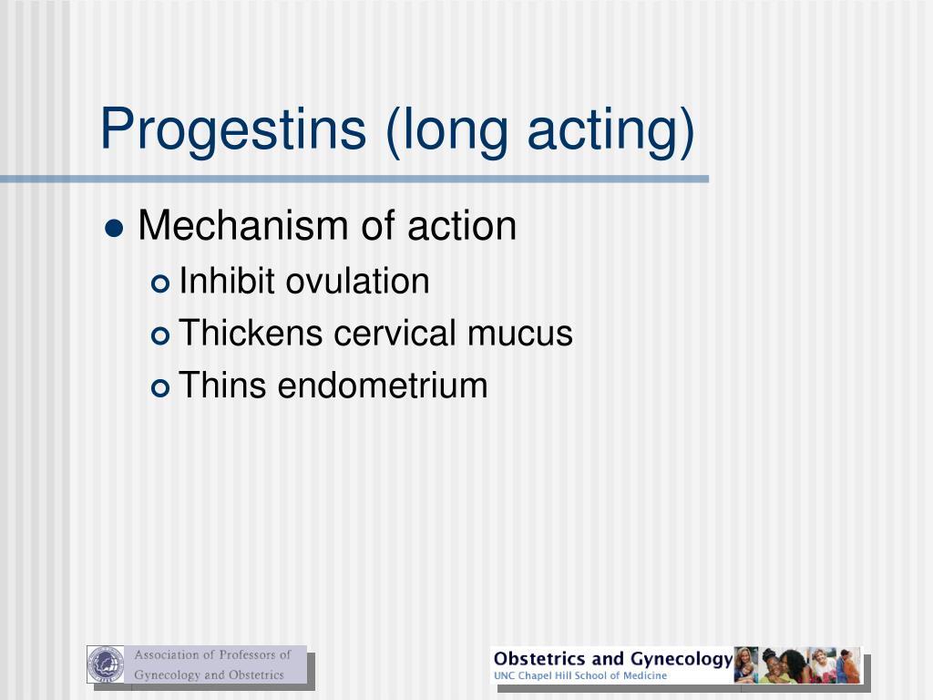 Progestins (long acting)