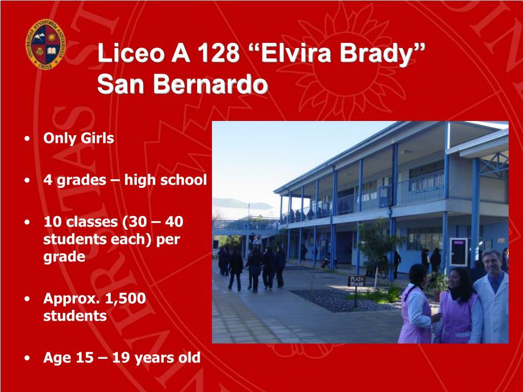 """Liceo A 128 """"Elvira Brady"""""""