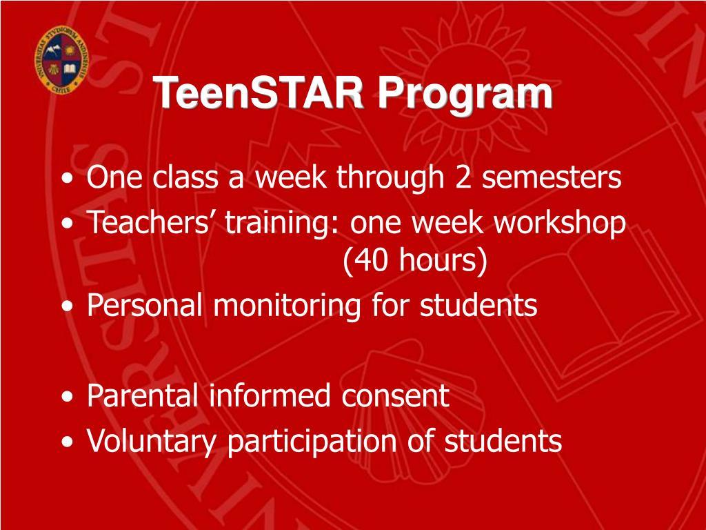 TeenSTAR Program