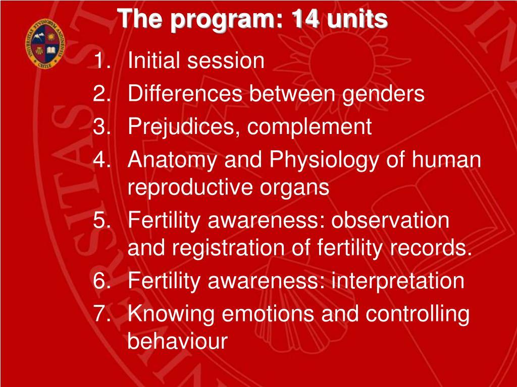 The program: 14 units