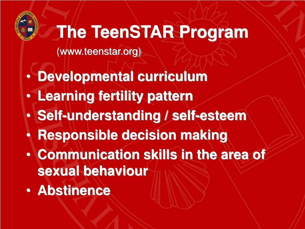 The TeenSTAR Program