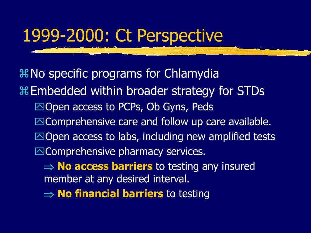 1999-2000: Ct Perspective
