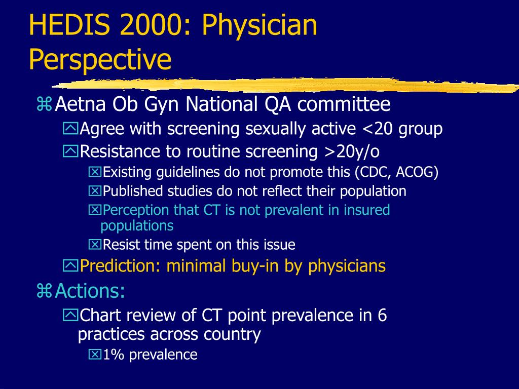 HEDIS 2000: Physician Perspective