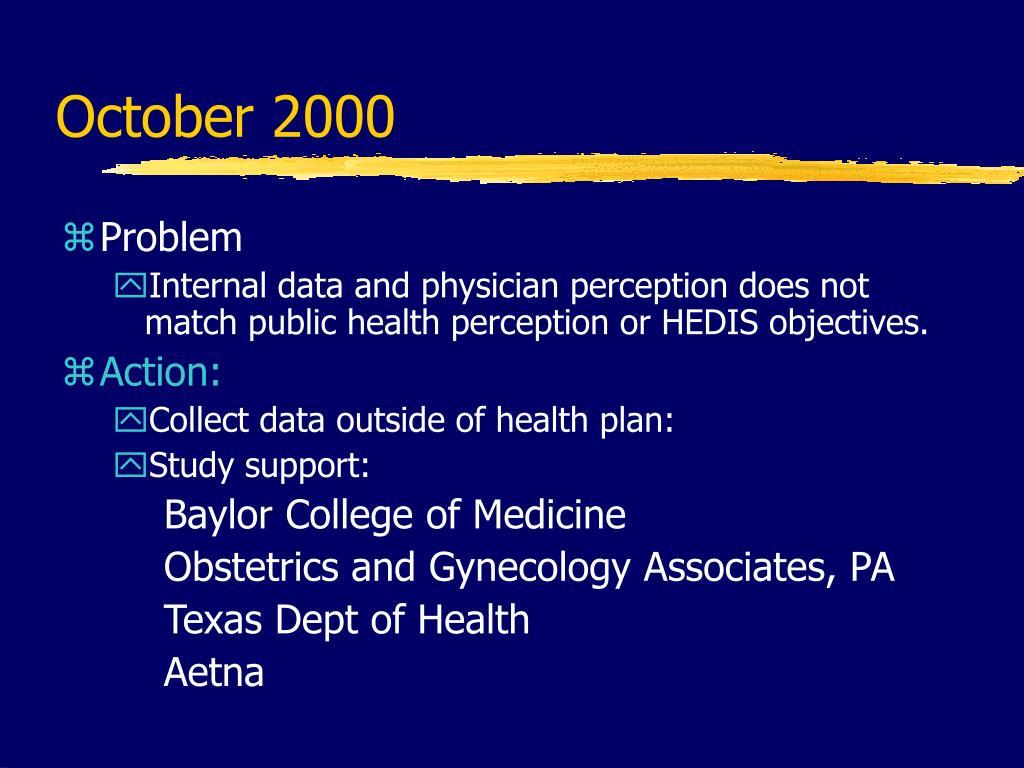 October 2000