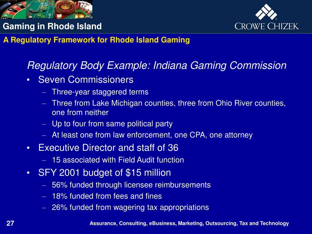 A Regulatory Framework for Rhode Island Gaming