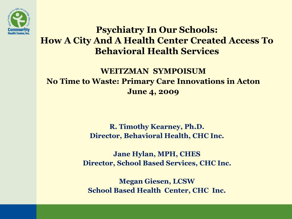 Psychiatry In Our