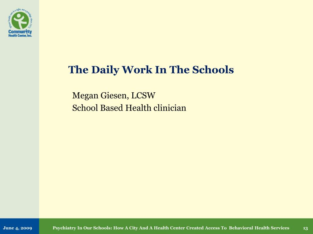 The Daily Work In The Schools