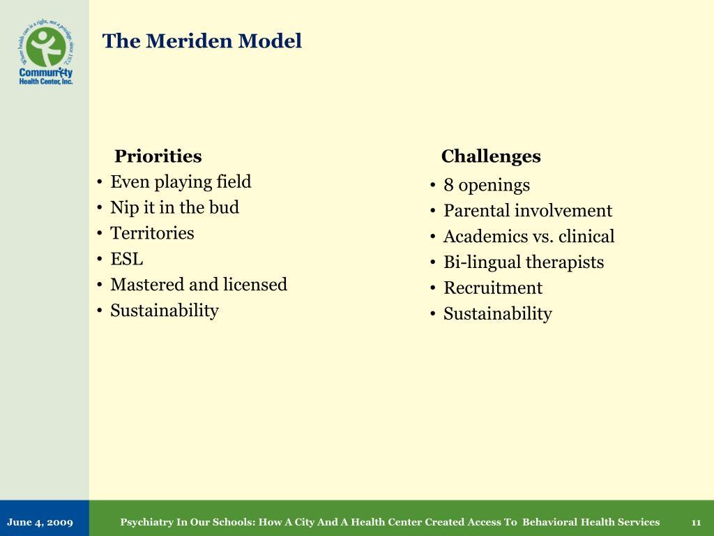The Meriden Model