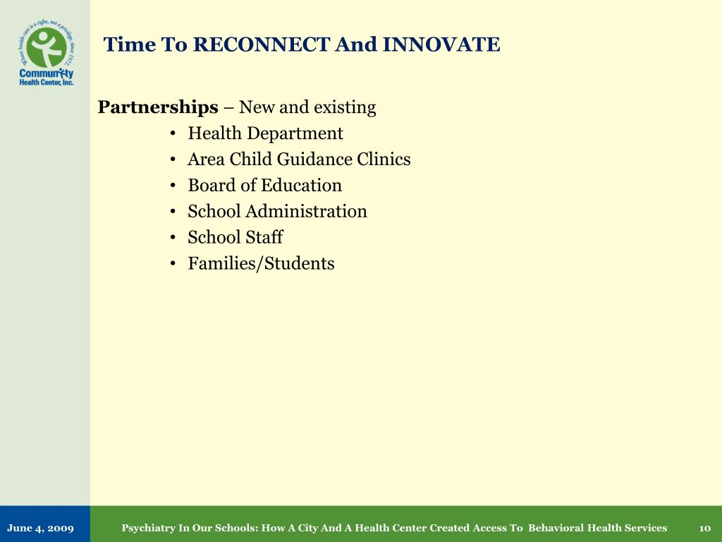 Time To RECONNECT And INNOVATE