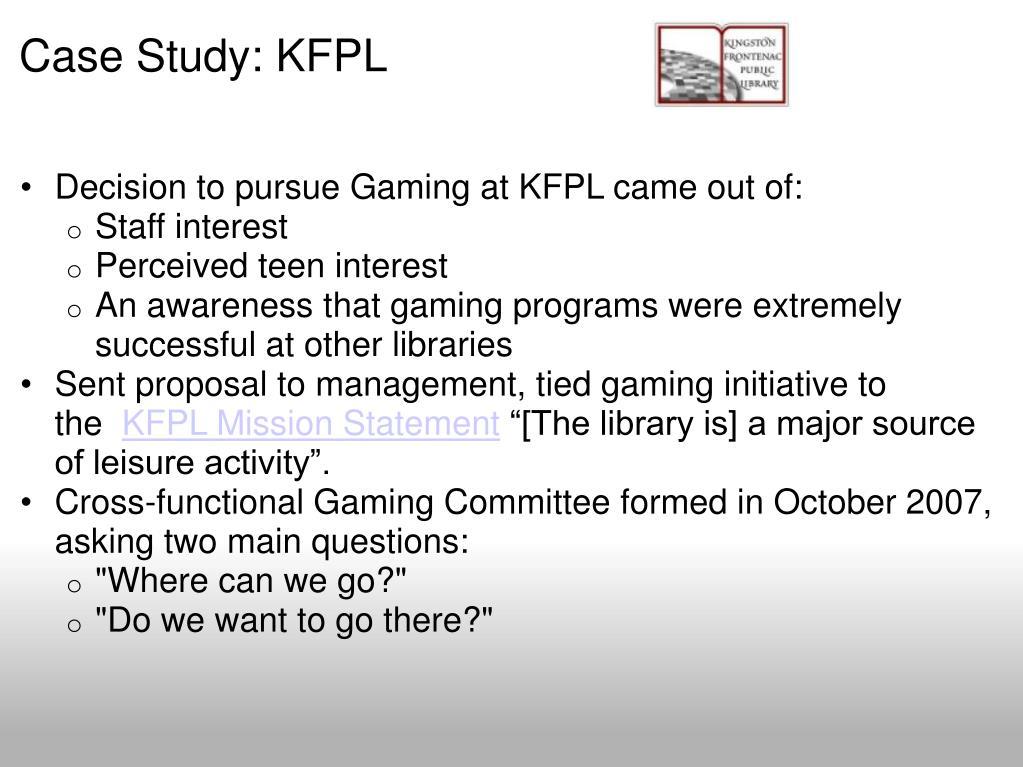 Case Study: KFPL