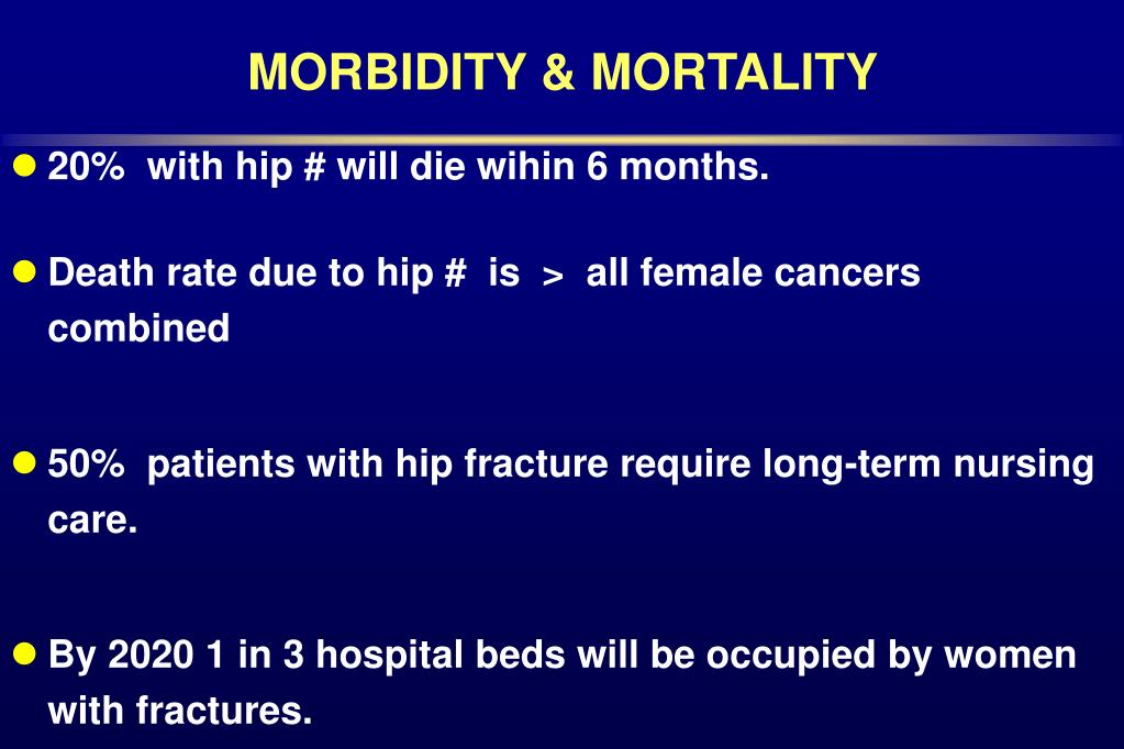 MORBIDITY & MORTALITY