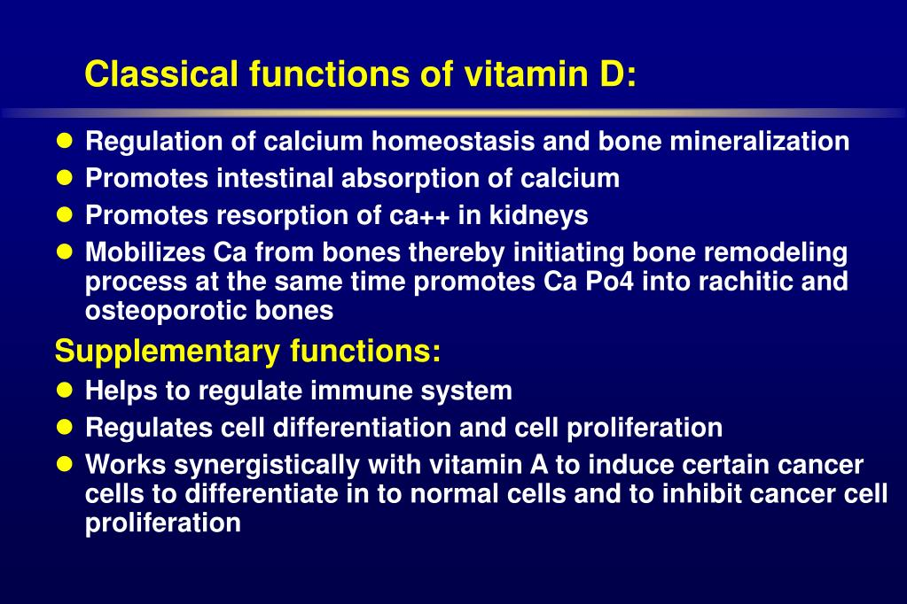 Classical functions of vitamin D: