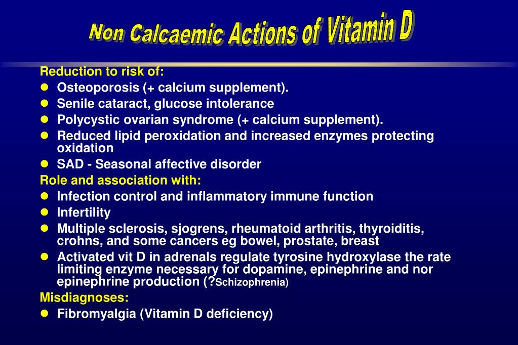 Non Calcaemic Actions of Vitamin D