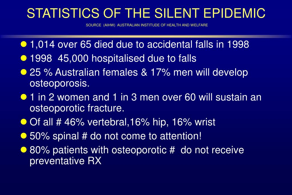 STATISTICS OF THE SILENT EPIDEMIC