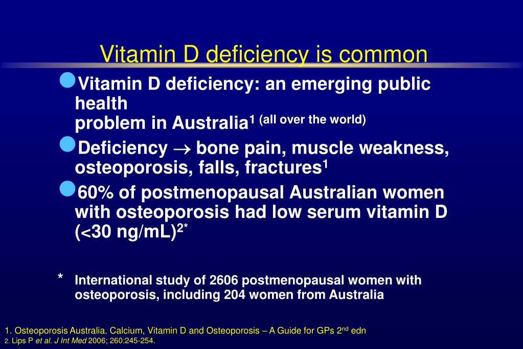 Vitamin D deficiency is common