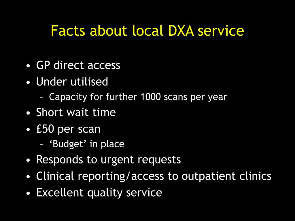 Facts about local DXA service