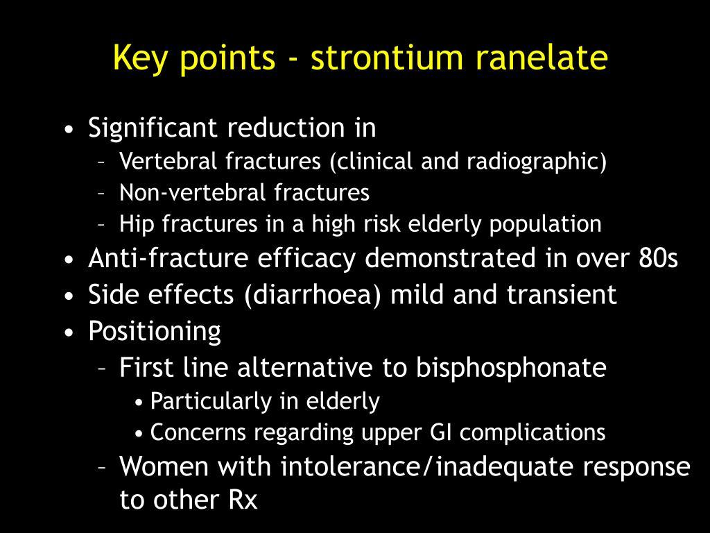 Key points - strontium ranelate