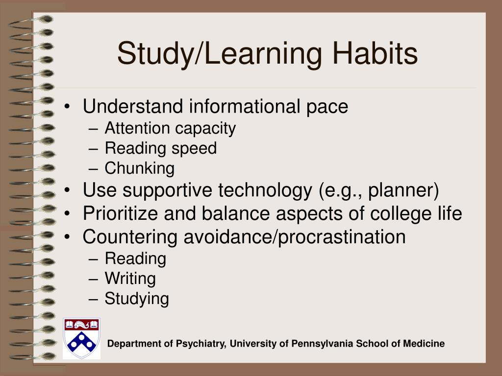 Study/Learning Habits