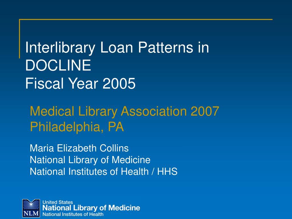 Interlibrary Loan Patterns in DOCLINE