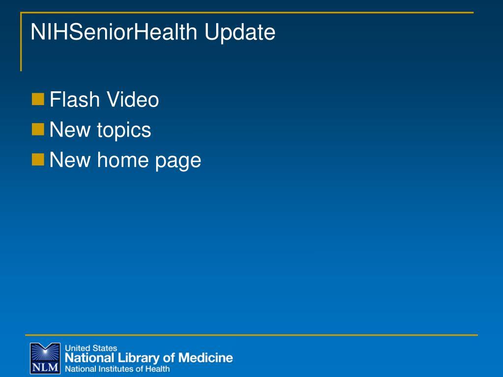 NIHSeniorHealth Update