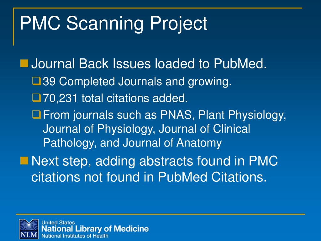 PMC Scanning Project
