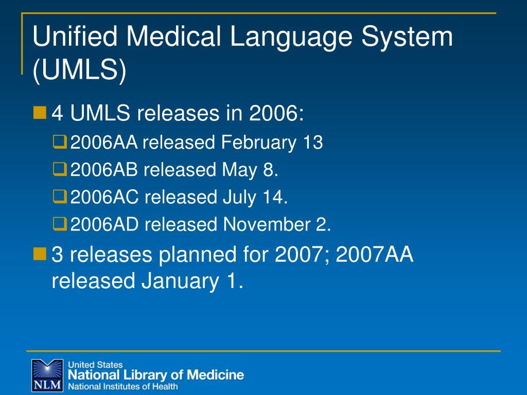 Unified Medical Language System (UMLS)