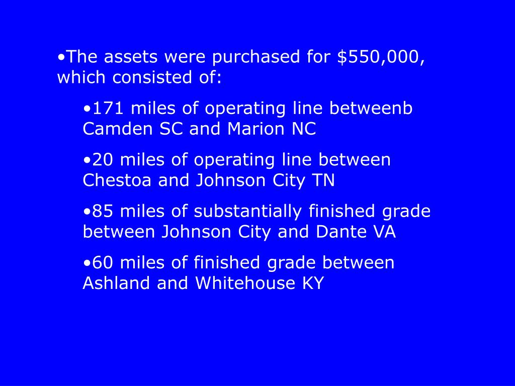 The assets were purchased for $550,000, which consisted of: