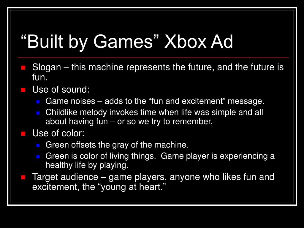 """Built by Games"" Xbox Ad"